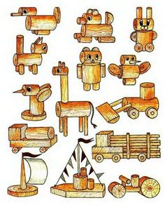 простые деревянные поделки - Поиск в Google
