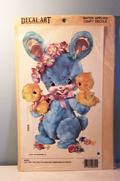 Vintage Meyercord Bunny Decal - Still in Package