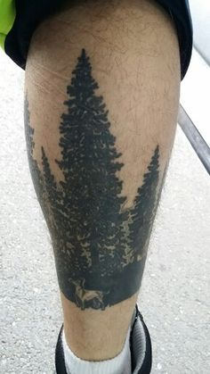 Forest tattoo with my dogs