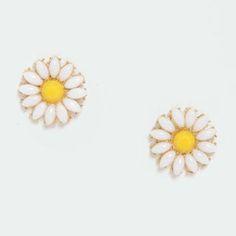 Glory Daisies White Daisy Earrings