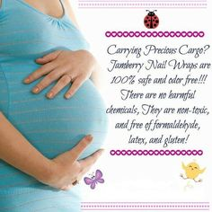 Carrying precious cargo?! Jamberry wraps make this a perfect option for you! You can still look cute and not worry about toxins! www.jesslittle.jamberrynails.net
