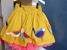 Vibrant applique skirt for fall 2013 from Mini Boden preview day
