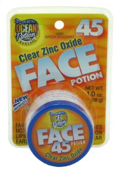Ocean Potion 00088 Face Potion Clear Zinc SPF 45 1oz - List price: $4.99 Price: $3.49 Saving: $1.50 (30%)