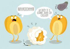 #Ilustración para la #receta del #Ceviche, que tiene mucho #maiz.