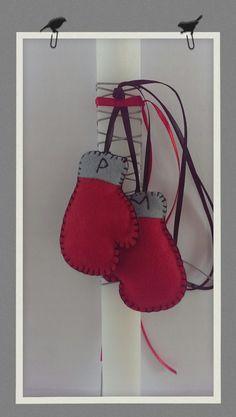 Greek Easter candle (lambada) - boxing gloves