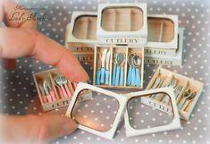 Miniaturowy Świat Lady Fanaberii: Kolorowe sztućce / Mini cutlery box set