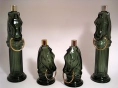 vintage AVON horse bottles - OMG. I still have one that my Dad filled with sand when it was empty.