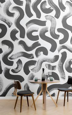 5 Simple Ideas to Improve Your Dining Room Design – Voyage Afield Wallpaper Inspiration, Interior Inspiration, Dining Room Wallpaper, Paint Wallpaper, Wallpaper Murals, Room Interior, Interior Design, Dining Room Design, Decorating Your Home