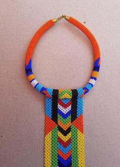 African zulu necklace African necklaces Long pendant   Etsy African Bracelets, African Necklace, African Beads, African Jewelry, Long Pendant Necklace, Cute Necklace, Jewellery Shop Near Me, Jewellery Sale, Designer Jewellery