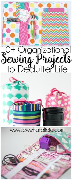 10+ Sewing Projects to Organize Your Life | Are you ready to get organized. Do you love to sew? Here is the perfect collection of projects for you! #sewing #organization #sewingprojects #organizeyourlife