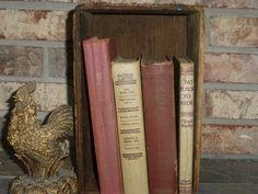 Instant Library  Vintage Books  Tan and by RiverOfTimeTreasures, $24.00