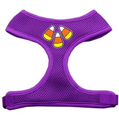 Dog Supplies Candy Corn Design Soft Mesh Harness Purple Extra Large * Want additional info? Click on the image. (This is an affiliate link) #Dogs