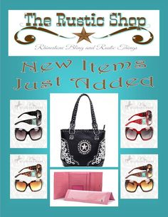 More new items! http://www.therusticshop.com/?store=blingandthingsrusticoutlet    https://www.facebook.com/BlingandThingsRusticOutlet