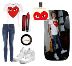 """""""Niall Horan (girl version)"""" by shannon-jansen ❤ liked on Polyvore featuring Payne, Play Comme des Garçons, Citizens of Humanity, Supra, Maybelline, Stila, Comme des Garçons, niall horan, niall and hot"""