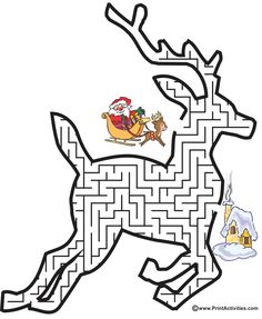 Reindeer Shaped Maze