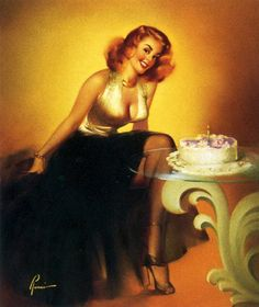 """HAPPY BIRTHDAY"" Pin-Up Girl by Edward Runci by oldcarguy41, via Flickr"