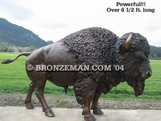 Powerfully captured in bronze and once revered by Native Americans as their source of food, clothing and shelter, the American Buffalo or Bison roamed free on the vast prairies of the Wild West. Call us today at (877) 528-2531 to discuss your specific needs.