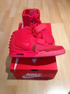 7163f0a8bd7a2 Yeezy Red October Nike Kanye West Trainer Sneaker Footwear Dope Swag  Fashion Nike Red Sneakers