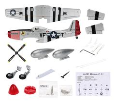 28 Best RM6607 GoolRC A-201 800mm Wingspan P51 Airplane PNP