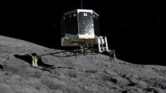 Millions of miles from Earth, the Philae robotic lander has settled on the comet's surface, the European Space Agency says.
