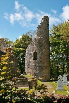 Dysart O'Dea Round Tower, Corofin, Co. Clare via Irish Dew.