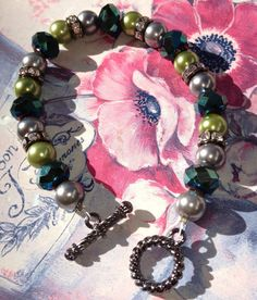 Shades of Green Beads in Various Shapesby ItsMyMonkeyBusiness