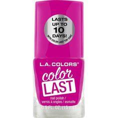 L.A. Colors Color Last Nail Polish, 0.5 fl oz, Pink