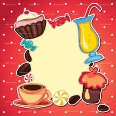 CLIPART CAKE CARD | Royalty free vector design