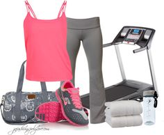 """""""Training for a 5K"""" by jafashions ❤ liked on Polyvore"""
