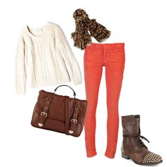 Bright skinny jeans for fall