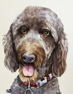 """Custom Pet Portraits These are some examples of a commissioned pet portraits original watercolor painting of your pet from a photo you like. If you would like to have a pet portrait just contact me direct through Etsy or click """"add to cart"""" and message me with your photograph(s) and"""