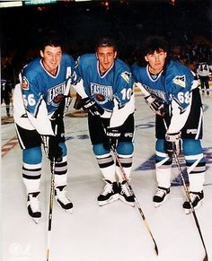 Mario Lemieux, Ron Francis, Jaromir Jagr All-Star Game