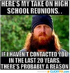 Um yes. High school is in the past and that's where it should stay.