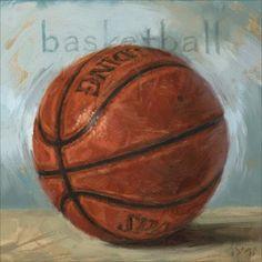 'Amberton Publishing Basketball' Canvas Art