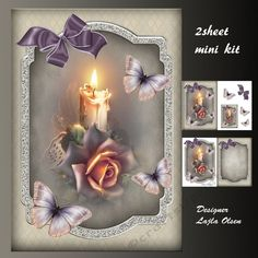 Candlelight by Lajla Olsen Makes an A5 cardfront with decoupageinsert and one giftcard.2 sheets to print.Enjoy)