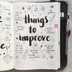 Day 14 of the #listersgottalist challenge: things I need to improve #hobonichi…