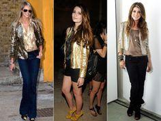 Jaqueta dourada  estilo