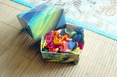 How to Turn an Old Calendar )or map, or scrapbook paper) into a Treat Box: I once made a box like this in a workshop class, but lost the instructions. Glad to have them back again. I still use that box :)