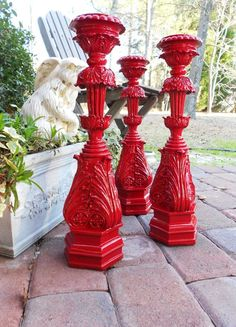 Candlesticks...I've got bannister rails on had...how cani transform them into these?