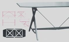 design-is-fine:  Franco Albini, foldable office table, 1951. For...