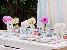 Décoration de table - Communion - table fleurie