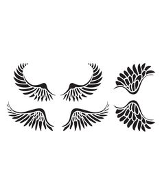 Look at this Wings Stencil - Set of Three on #zulily today!