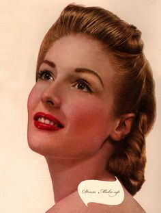 Secret 1940's Makeup Tricks--VERY helpful guide for how you ought to effect your very own 40s look.