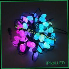 45.00$  Buy here - http://aliw26.worldwells.pw/go.php?t=32723403702 - 25mm diameter D24 Digital LED Christmas string Light 50pcs/chain DC12V 30w Altogether