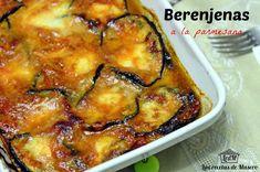 Las recetas de Masero: Berenjenas a la parmesana (Parmigiana di melanzane)