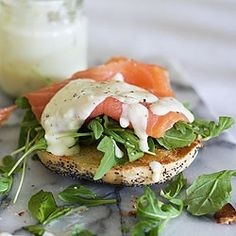 Smoked Salmon Sandwich -- Eat well and be well with Polaner products - polanerspreads.com #sandwich #lunch #yum