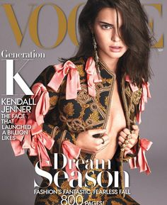 Fashion's biggest star: Kendall Jenner is the September issue of Vogue's cover girl, it was revealed Thursday