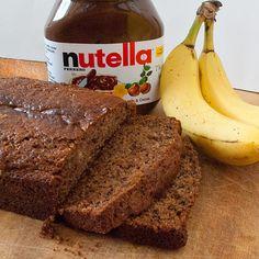 nutella banana bread. Ohhhh laah laahhhh. I'm sooooo trying this!!!!  but like this weekend!!!