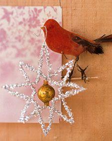 Tinsel star ornament DIY via Martha Stewart- RRM