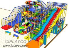IPC1302 - Large indoor playground, with slides, tubes, fun events and a toddler play area design. Contact us for more information about this play structure. View the levels and renderings. www.iplayco.com
